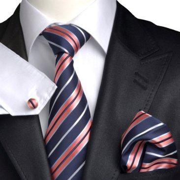 Mens Boxed Matching Tie Handkerchief Cufflinks Gift Set