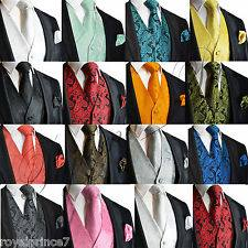 All Colors solid and Paisley designs. Matching Vest-sets with bow-tie, Tie-set-& Hanky for $34.99