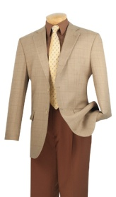 100% Super Wool. Single breasted 2 buttons sport coat with center vents.