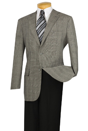 100% Super wool, Single breasted 2 buttons, sport coat with ellow patch, side vents.